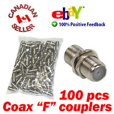 100 Coaxial Cable Joiner Coupler F Connector female to female Extend Coax cable