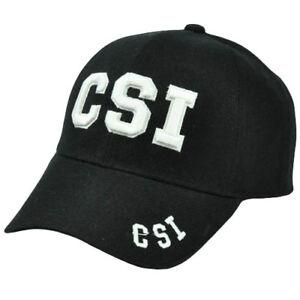 CSI Crime Scene Investigation Law Enforcement Department Black White Hat Cap