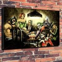 Jokers Batman Printed Canvas Picture Multiple Sizes 30mm Deep Fantasy DC Comic