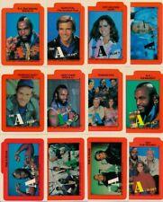 1983 Topps The A-Team 12 Karte Aufkleber-Set
