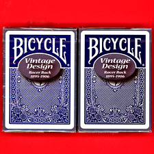 Bicycle Racer Back Playing Cards Blue Set Vintage