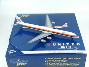 UNITED AIRLINES McDonnell Douglas DC-8-71 Model 1:400 Scale Gemini Jets READ