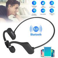 Mini Wireless Bluetooth Bone Conduction Headset Stereo Headphone Earphone Sport