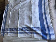 Vintage Irish Blue&white Damask Tablecloth With 12 Napkins