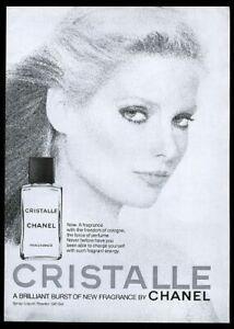 1977 Chanel Cristalle perfume woman photo vintage print ad