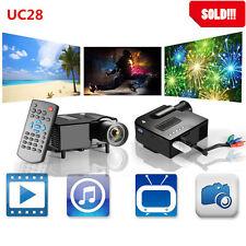 Full HD 1080p Home Theater LED Mini Multimedia Projector Cinema USB TV HDMI Top