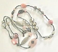 """40"""" Long Necklace N2191 $116 Silpada Sterling Silver Pearl Pink Soapstone"""