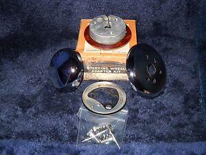 NOS GRANT 3312 Chrome Steering Wheel Horn Kit for 1967 Dodge & Plymouth all xVan