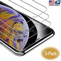 iPhone 11 Pro XS Max Screen Protector 3-Pack HD 9H Hardness Tempered Glass 6.5""