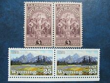 Wyoming/Gran Tetons  Stamps  #897 & 2444 (double sets)