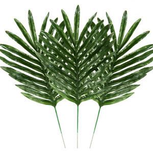 12Pcs Vivid Artificial Tropical-Palm Leaves Fake Plant Home Office Party Decor