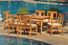 "7pc Grade-A Teak Dining Set 60"" Rectangle Table 6 Osborne Arm Chair Outdoor"