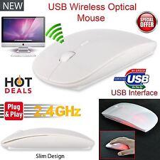 USB Mouse Optical 2.4GHz Wireless White Cordless PC Laptop Netbook Windows Mac