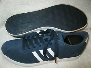Adidas women's Courtset model lightweight blue suede tennis shoes (AW4212) 9.5