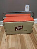 Vintage Metal Schlitz Beer Ice Chest Cooler Cronstroms