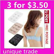 3 x 2 Hook Bra Extender Clip On Strap Extension Maternity Extension White black
