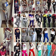 Womens Hoodies Sport Tops Sweatshirt Sweat Pants Suits Tracksuit Set Loungewear