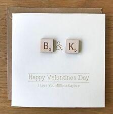 Personalised Wedding/Anniversary Card Scrabble Wife Husband Boyfriend Girlfriend