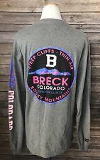 Jansport Breck Colorado Women's Gray Long Sleeve Neon Gray T Shirt Sz M