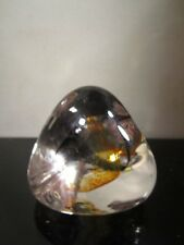 GLASS PAPERWEIGHT Caithness Scotland PEBBLE Paperweight