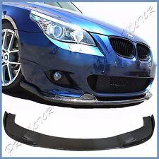 3K Carbon Fiber H Look Spoiler Lip BMW 04-10 E60 525i 535i M Sport Front Bumper
