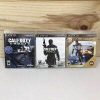Lot of 3 PS3 Playstation 3 Video Games COD Ghosts - MW3 & Battlefield Complete