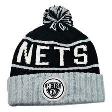 Brooklyn Nets Mitchell and Ness Cuffed  Pom Beanie Knit Winter Hat NWT NBA