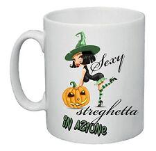 tazza mug 8x10 scritta sexy streghetta in azione halloween zucca