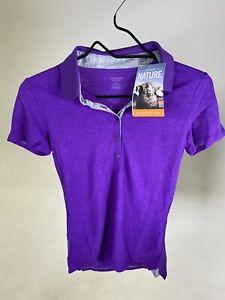 ICEBREAKER 100% Merino Wool Women's Tech Lite Polo Shirt - Purple - XS - NEW!