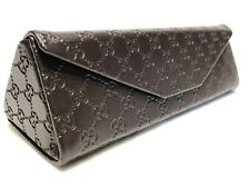 NEW Authentic Brown Gucci Folding Triangle Hard Side Eyeglasses Sunglasses Case