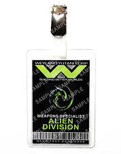 Aliens Weyland ID Badge Weapons Specialist Cosplay Prop Costume Gift Comic Con