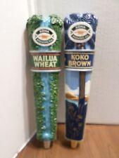 "Draft Beer Keg Tap Handle Lot of 2 Kona Hawaii Koko Brown Wailua Wheat 11.5"""