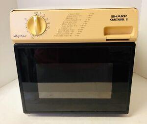 Sharp Half Pint Carousel II R-4075 Compact Microwave Oven .5CF Vintage
