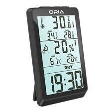 Higrómetro Termómetro Digital Oria, interior de temperatura y Humedad Monitor Wit