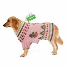 Pink Cactus Themed Knitted Sweater for Dogs Size Small, Green Patterns NWT