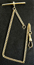 Rolled Gold Solid Pocket Watch Albert Chain Single Close Curb Fob - FA42