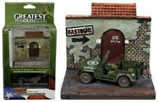 Johnny Lightning 1:64 Diorama WWII Willys MB Jeep & To Bastogne Resin Display