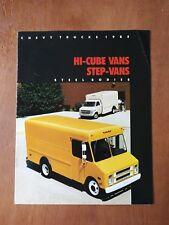 1985 Chevy Trucks Hi-Cube & Step Vans Sales Brochure - Chevrolet - 12 Pages