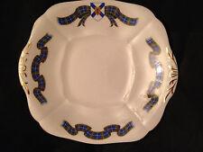 Adderley English Bone China Plate Nova Scotia Tartan Handled Cake Plate