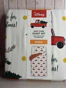 Disney ~ George ~ Christmas Mickey Mouse ~ Single ~ Reversible Duvet Cover Set