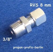 """Schneidringverschraubung GE 3/8"""" x 8 mm Ermeto für Gasrohr (Rohrverschraubung)"""