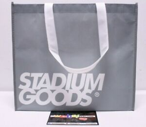 """StadiumGoods New York Gray White Limited 16""""x14""""x6"""" Fabric Shopping Tote Bag NYC"""