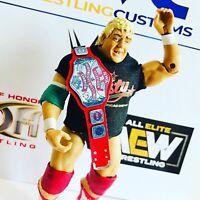 NWA TV Heavyweight Title Faux Leather custom Belt for Mattel/Jakks Figures WWF