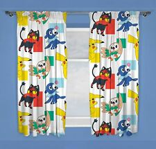 "Pokemon Dash Readymade Curtains 54"" or 72"" Drop Matches Bedding"