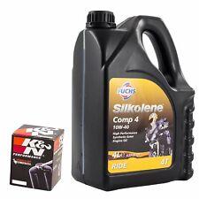 Silkolene Comp 4 10W40 Oil & K&N Oil Filter Kit For Yamaha 2002 FZS1000 Fazer KN