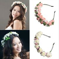 Festival Rose Garland Flower Headwear Headband Floral Hair Wreath Hairband
