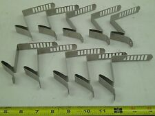 10 STAINLESS STEEL HANGING BRACKET MOUNTABLE SLOTTED L SHAPE HOOK HANG SEE PHOTO