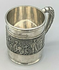 Tiffany & Co. Sterling Silver Mug featuring a Children's Parade, circa 1899