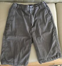 Children's Place Boys Gray Dress Shorts Adjustable Waist Shorts 18 S EUC