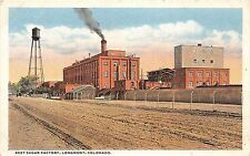 B57/ Longmont Colorado Co Postcard c1910 Beet Sugar Factory Water Tower